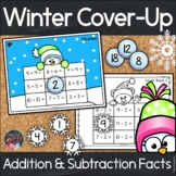Addition and Subtraction Facts to 20 | Winter Cover-Up to Print