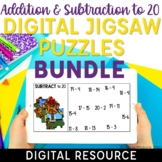 Addition and Subtraction Facts within 20 Digital Jigsaw Puzzles
