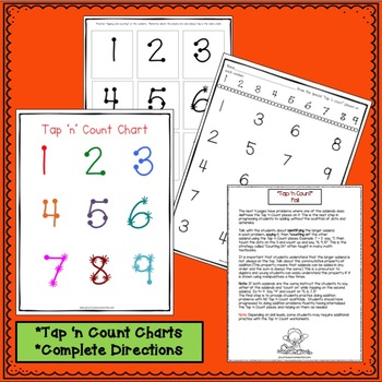 """Addition and Subtraction Fall Worksheets with """"Tap 'n Count"""" points"""