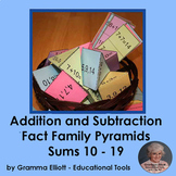 Addition and Subtraction Fact Family Pyramids - Sums 10 - 19