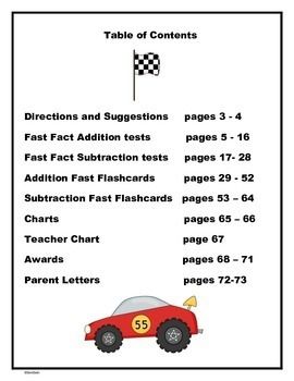 Addition and Subtraction Fast Facts to 12 - Timed Tests and Flashcards