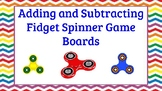 Math Centers- Addition and Subtraction Fidget Spinner Game Boards