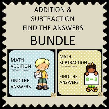 Addition and Subtraction Find the Answers (Bundle)