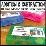 Addition and Subtraction Fine Motor Skills Task Boxes