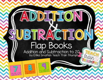 Addition and Subtraction Flap Books! {Up to 20}