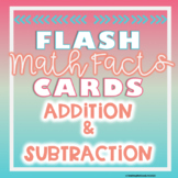 Addition and Subtraction Facts Flash Card Bundle