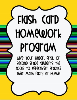Addition and Subtraction Flash Card Homework Program~K-2 Common Core Aligned