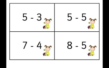 Addition and Subtraction Flash Cards