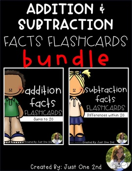 Addition and Subtraction Flash Cards BUNDLE