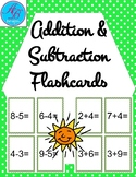 Addition and Subtraction Flash Cards. Math Centers.Review.
