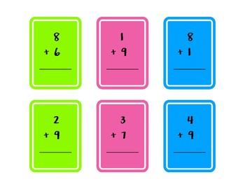 Addition and Subtraction Flash Cards Mental Math