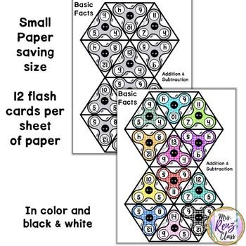 Addition and Subtraction Flash Cards - Spinner Flash Cards Older Kids Love!