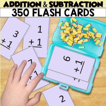 Addition and Subtraction Flash Cards for Independent Practice
