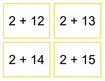 Addition and Subtraction Flash Cards to 20