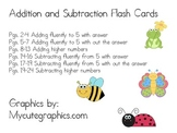 Addition and Subtraction Fluency Cards CCSS K.OA5