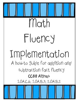 Addition and Subtraction Fluency Packet