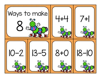 Addition and Subtraction Fluency Sort - April Edition