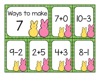 Addition and Subtraction Fluency Sort - March Edition