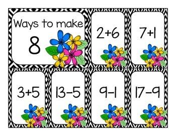 Addition and Subtraction Fluency Sort - May Edition