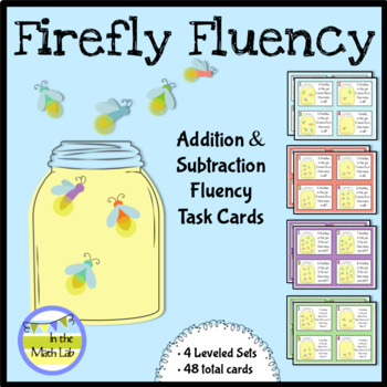 Addition and Subtraction Fluency Task Cards - 4 Levels