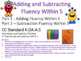 Addition and Subtraction Fluency Within 5 (CC K.OA.A.5 Pra