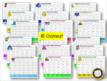 Addition and Subtraction Strategy Four in a Row Games for First Grade