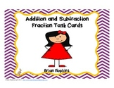 Addition and Subtraction Fraction Problem Solving Task Car