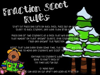 Addition and Subtraction Fraction Scoot