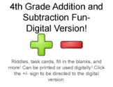 Addition and Subtraction Fun!
