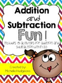 Addition and Subtraction Fun {15 activities for addition and subtraction to 20}