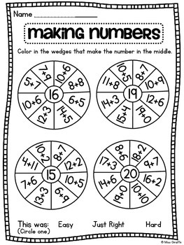 Addition and Subtraction Fun Challenge Worksheets