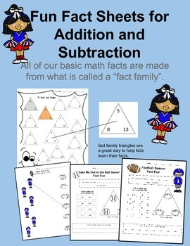 Addition and Subtraction Fun Fact Sheets