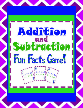 Math Facts Review Game