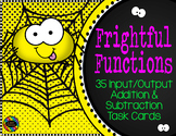 Addition and Subtraction Function Tables Input Output Task Cards