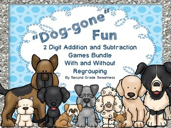 Addition and Subtraction Game Bundle: 2 Digit With and Wit