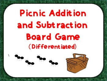 Picnic Addition and Subtraction Game (Differentiated)