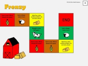 Addition and Subtraction Game--Farm Frenzy