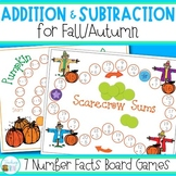 Addition and Subtraction Games for Fall