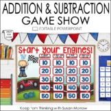 Addition and Subtraction Game Show: An Editable PowerPoint Game