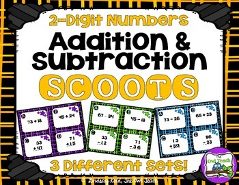 2 Digit Addition and Subtraction Games {Task Card Sets}