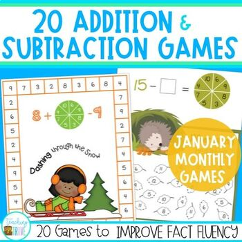 Addition and Subtraction Fact Fluency for January