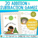 Addition and Subtraction Games for January