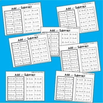 Addition and Subtraction Games to 20