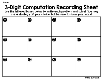 3 Digit Addition and Subtraction {QR Code Task Cards}