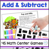 Addition and Subtraction Games First Grade and Second Grade
