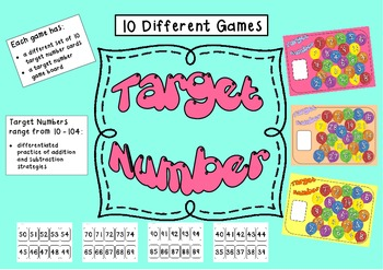 Addition and Subtraction Games - Target Number