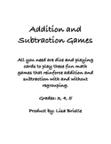 Addition and Subtraction Games (With Regrouping)
