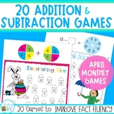 Addition and Subtraction Games for April