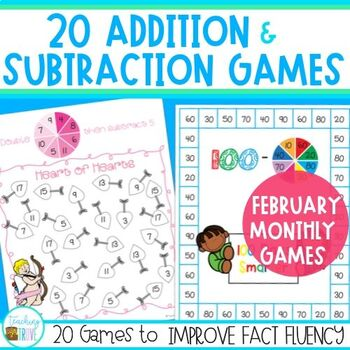 Addition and Subtraction Fact Fluency for February