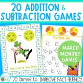 Addition and Subtraction Games for March